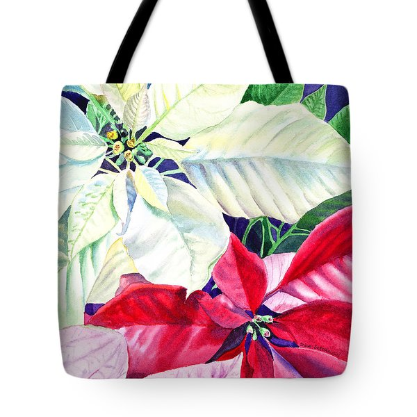 Poinsettia Christmas Collection Tote Bag