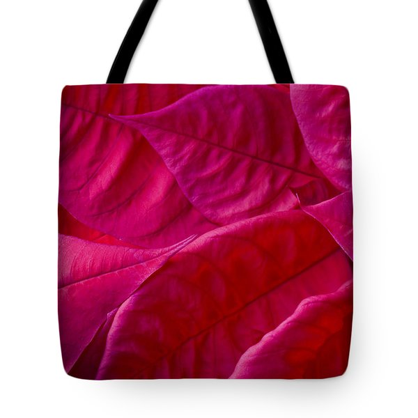 Poinsettia Leaves 1 Tote Bag by Rich Franco