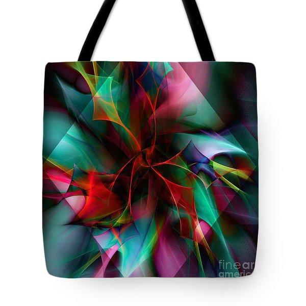 Poinsettia Warm Diamond  Tote Bag