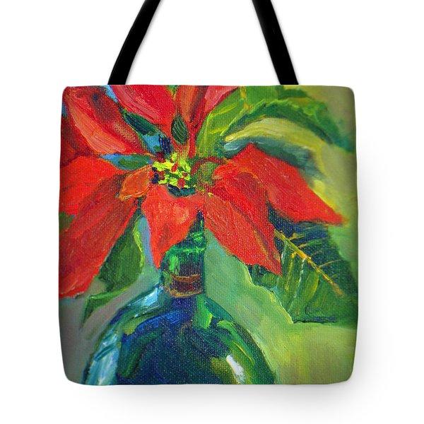 Poinsettias Tote Bag