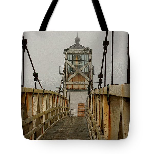 Point Bonita Lighthouse Tote Bag by Art Block Collections