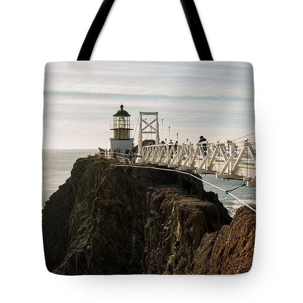 Point Bonita Lighthouse Tote Bag by Georgia Fowler