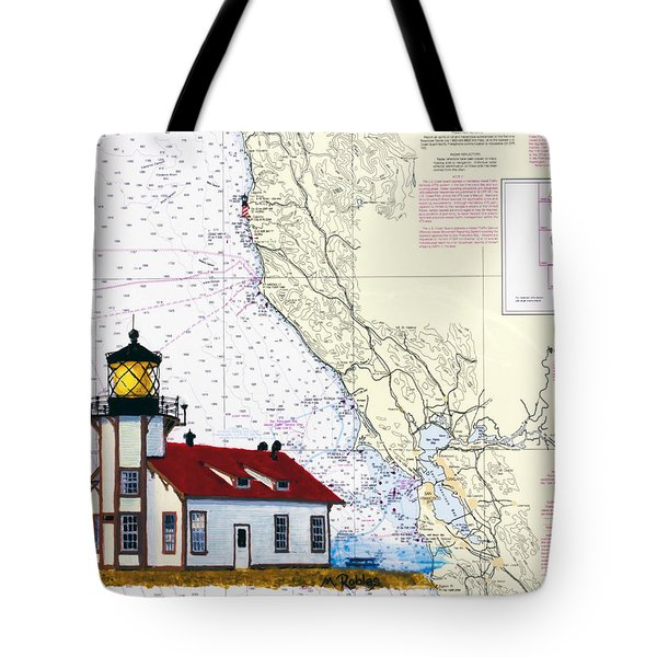 Point Cabrillo Light Station Tote Bag by Mike Robles