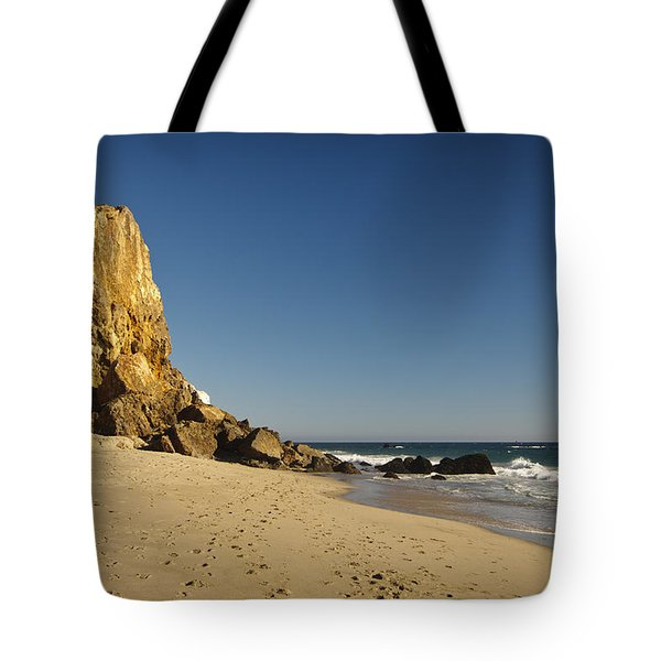 Point Dume At Zuma Beach Tote Bag by Adam Romanowicz