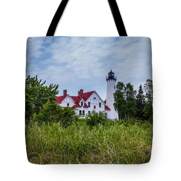 Point Iroquois Lighthouse Tote Bag