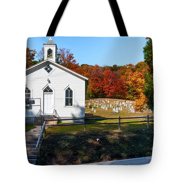 Point Mountain Community Church - Wv Tote Bag by Kathleen K Parker