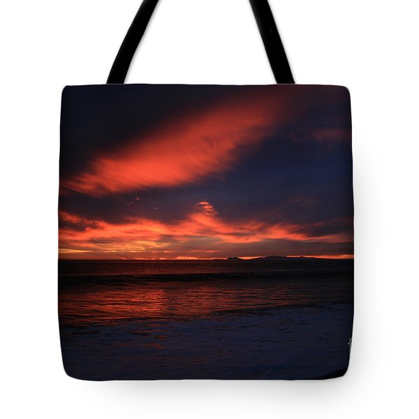 Tote Bag featuring the photograph Point Mugu 1-9-10 Just After Sunset by Ian Donley