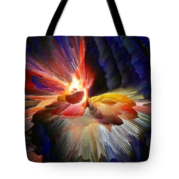 Point Of Impact - Abstract Dancers Tote Bag
