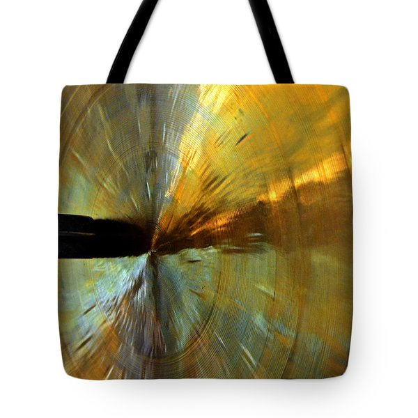 Point Of Impact In Copper And Green Tote Bag by Newel Hunter