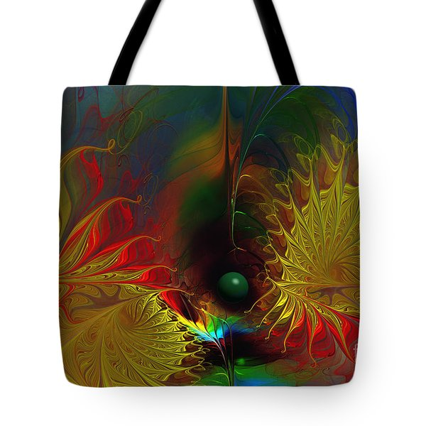 Point Of No Return-abstract Fractal Art Tote Bag