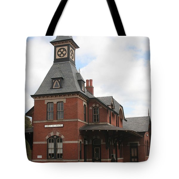 Point Of Rocks Tote Bag by Thomas Marchessault