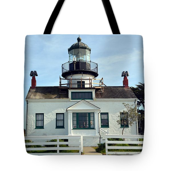 Point Pinos Lighthouse Tote Bag by Barbara Snyder