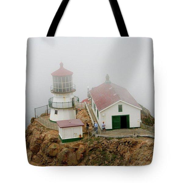 Point Reyes Lighthouse Tote Bag by Art Block Collections