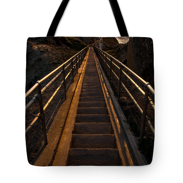 Point Reyes Lighthouse Staircase Tote Bag