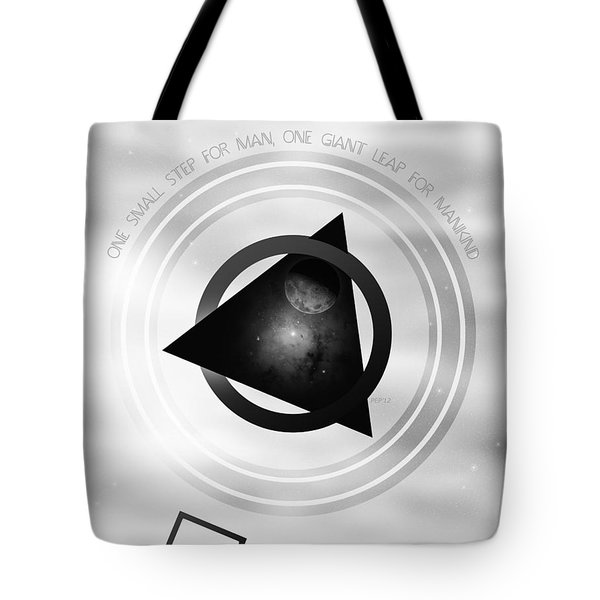 Point To The Moon Tote Bag by Phil Perkins