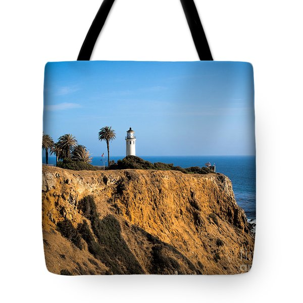 Point Vicente Lighthouse Tote Bag by Eleanor Abramson