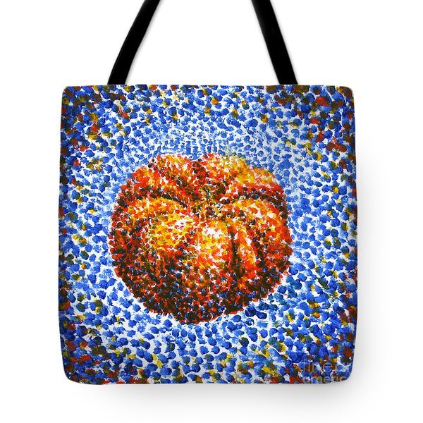 Pointillism Pumpkin Tote Bag