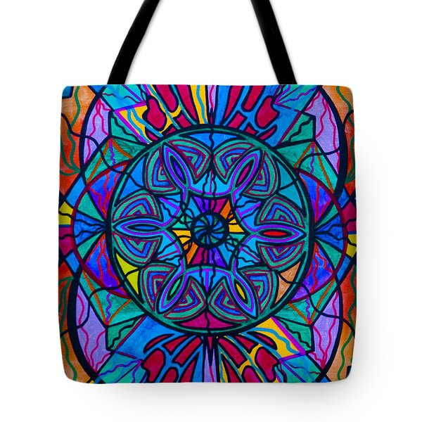 Poised Assurance Tote Bag by Teal Eye  Print Store