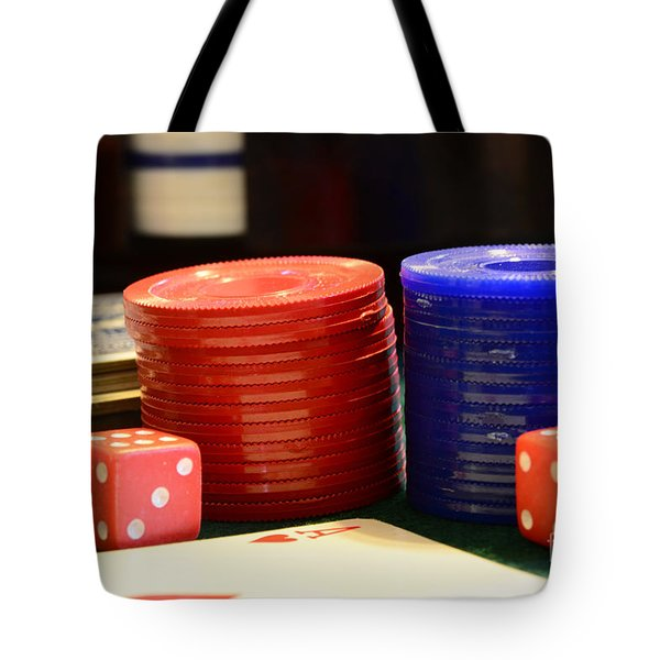 Poker Chips Tote Bag by Paul Ward