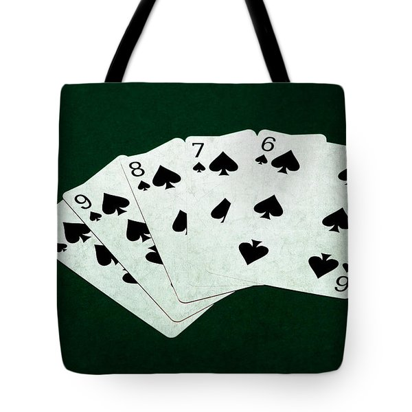 Poker Hands - Straight Flush 1 Tote Bag by Alexander Senin
