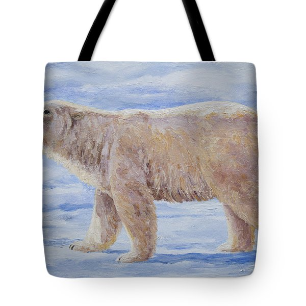 Polar Bear Mini Painting Tote Bag by Crista Forest