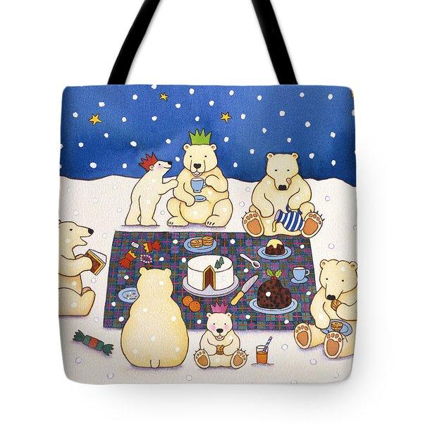 Polar Bear Picnic Tote Bag