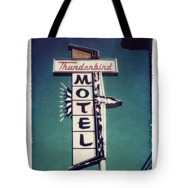 Polaroid Transfer Motel Tote Bag by Jane Linders
