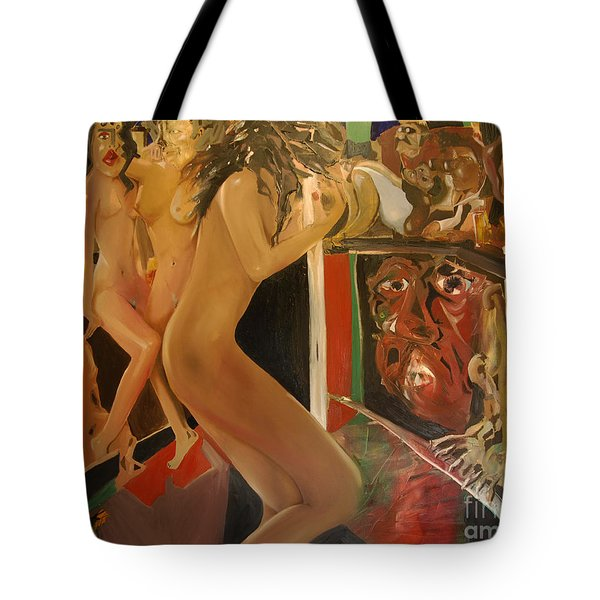 Pole Dancers And Their Admirers Tote Bag