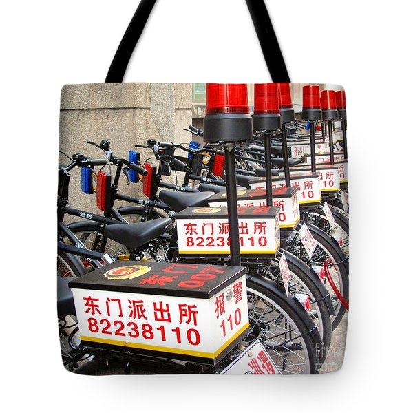 Police Bicycles Tote Bag