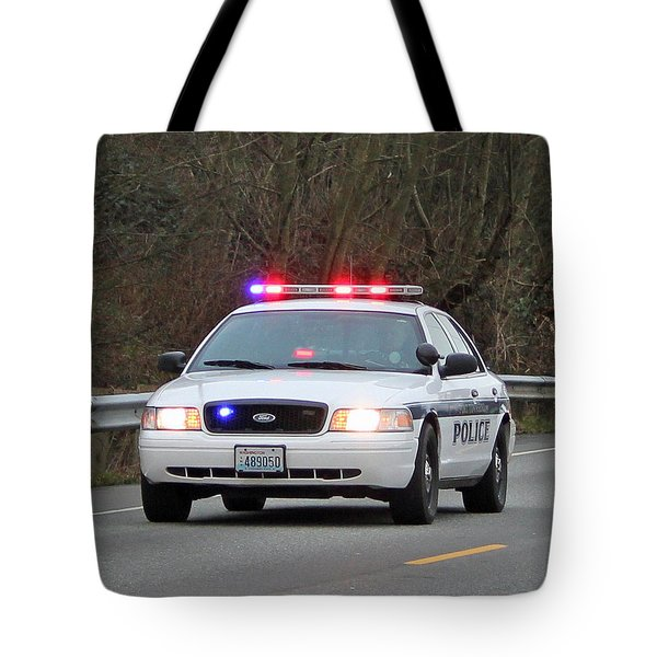Police Escort Tote Bag by E Faithe Lester