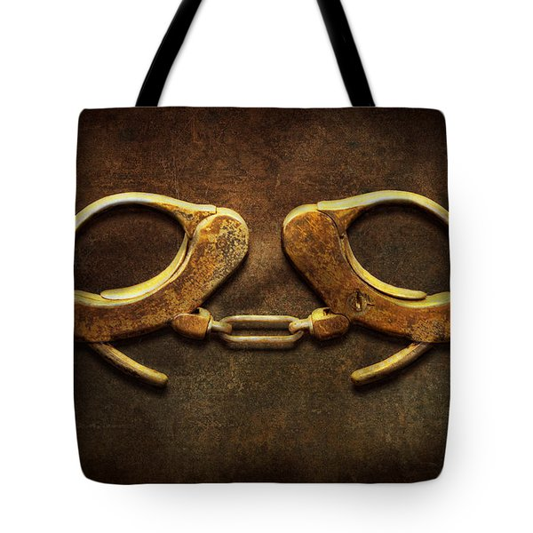 Police - Handcuffs Aren't Always A Bad Thing Tote Bag by Mike Savad