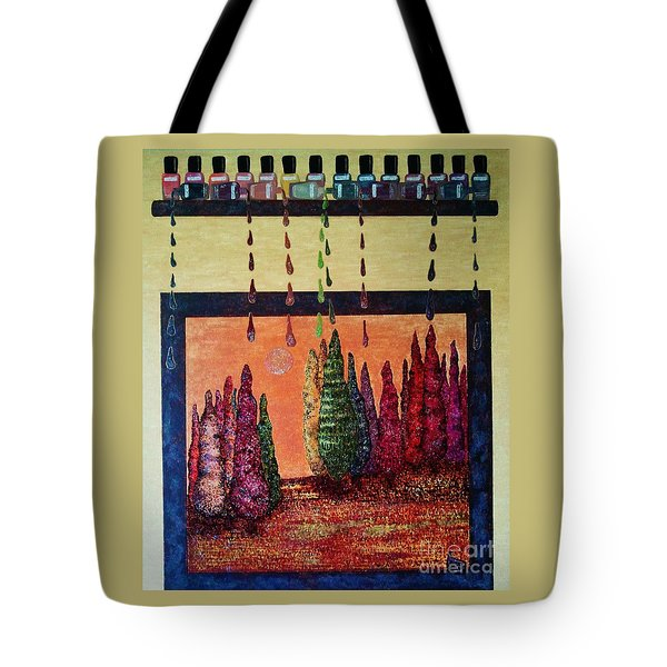Polished Forest Tote Bag by Jasna Gopic