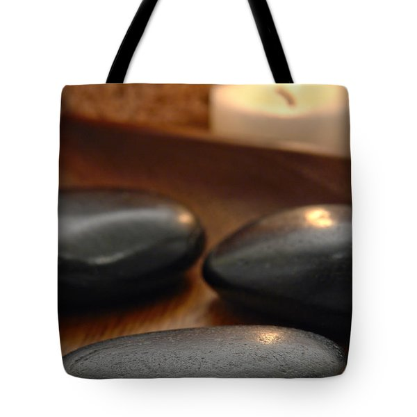 Polished Stones In A Spa Tote Bag