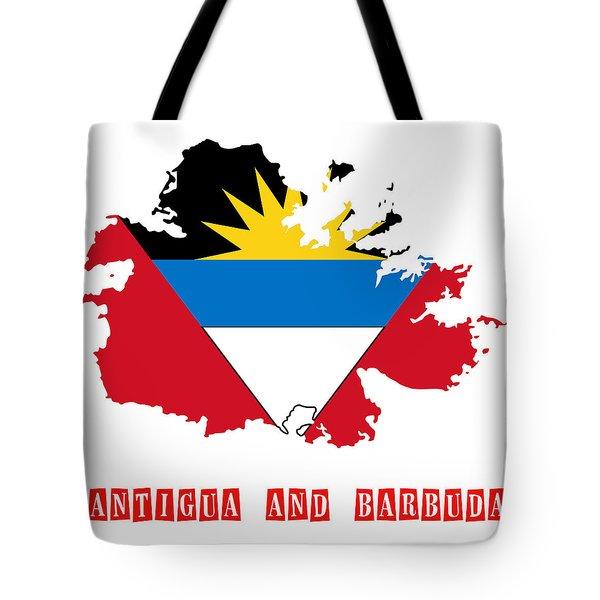 Political Map Of Antigua And Barbuda Tote Bag