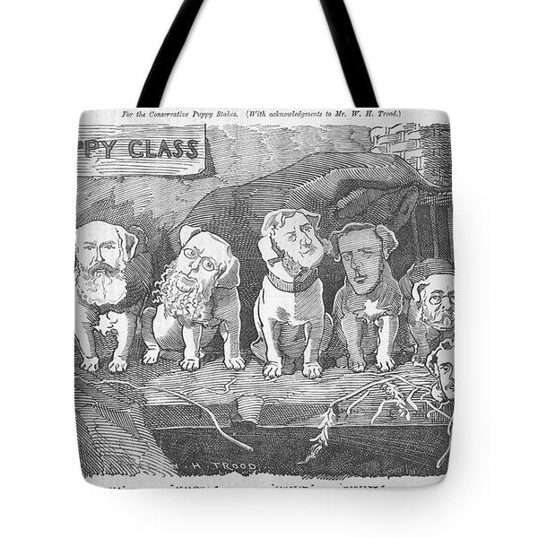 Political Puppy Class Tote Bag