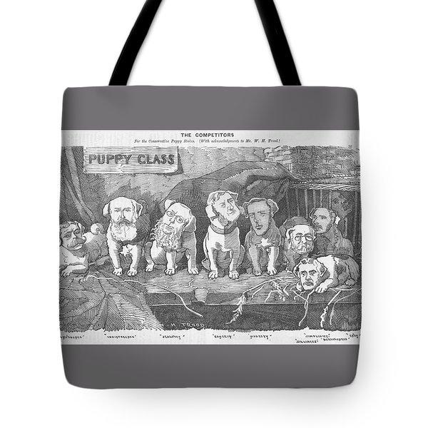 Political Puppy Class Tote Bag