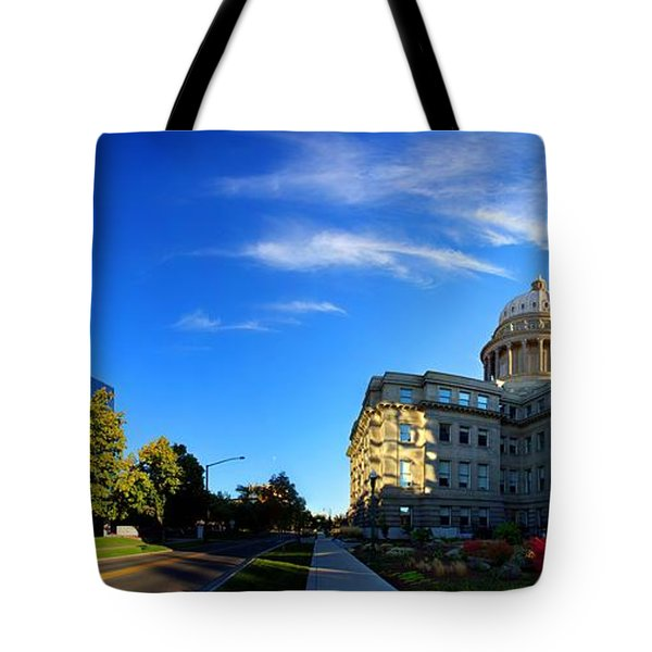 Tote Bag featuring the photograph Political Warping by David Andersen