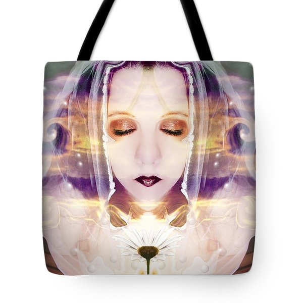 Pollen From The Light Flower Tote Bag by Heather King