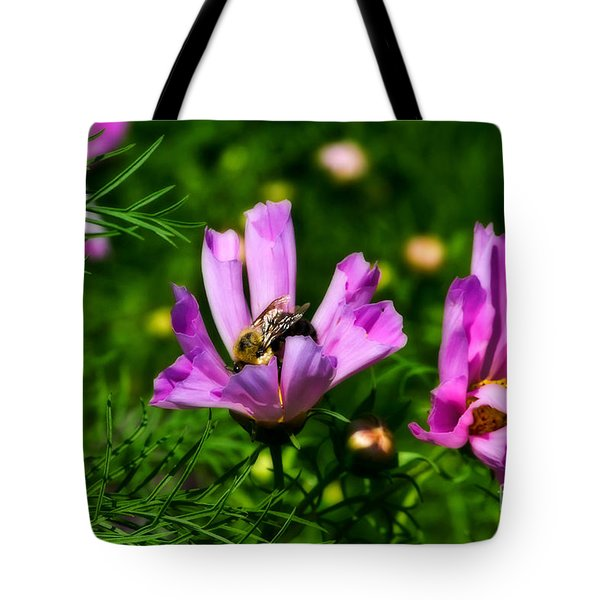 Pollinating Flowering Tote Bag