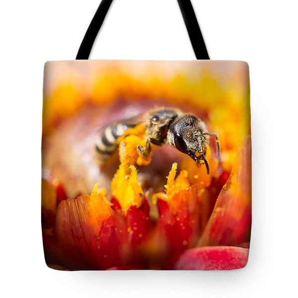 Tote Bag featuring the photograph Pollination by Priya Ghose