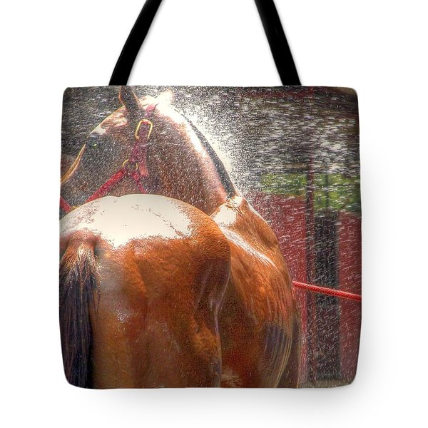 Polo Pony Shower Hdr 21061 Tote Bag