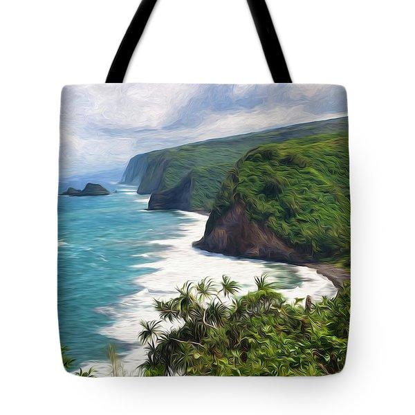 Pololu Valley Beach Tote Bag