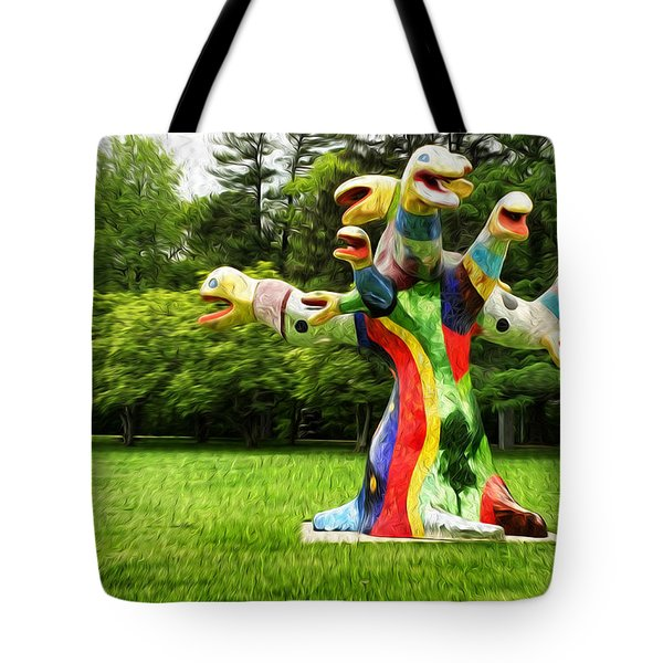Polycephaly Dragon Tote Bag by Boris Mordukhayev