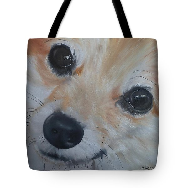 Tote Bag featuring the painting PoM by Cherise Foster