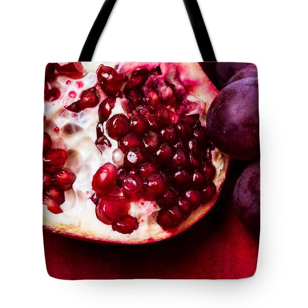 Pomegranate And Red Grapes Tote Bag by Alexander Senin