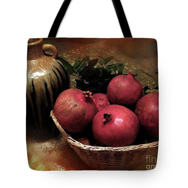Pomegranate Basket And Clay Jar Tote Bag