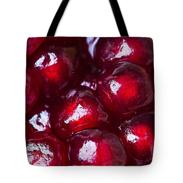 Pomegranate Closeup Tote Bag by Alexander Senin