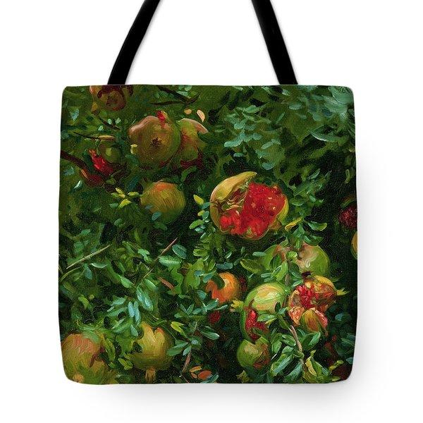 Pomegranates    Majorca Tote Bag by John Singer Sargent