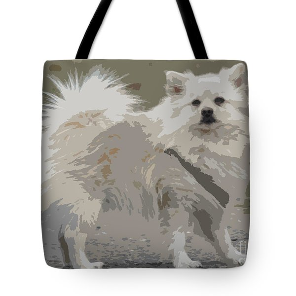 Pomeranian Dog Tote Bag by Jivko Nakev