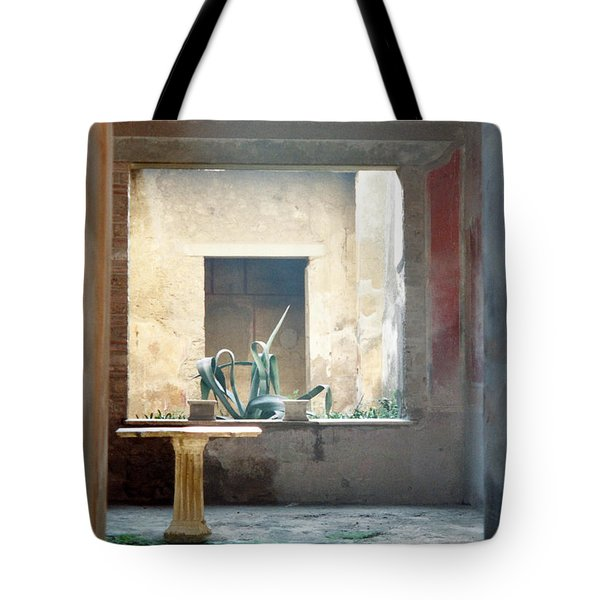 Pompeii Courtyard Tote Bag by Marna Edwards Flavell